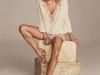 Elsa Pataky campaña Gioseppo PV 2016: sandalias planas