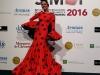 Eva González desfile en SIMOF 2016: vestido de lunares