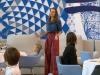 Eva González looks MasterChef Junior 3: pantalones de cuadros