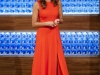Eva González looks MasterChef Junior 3: vestido rojo de Trucco