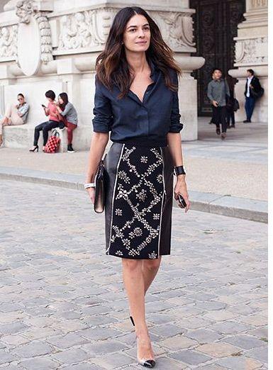 Cómo llevar falda tubo  tendencia elegante y chic  FOTOS  - Mujeralia c4d9a703e0c