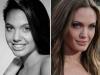 Famosas operadas de la nariz antes y después: Angelina Jolie