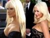 Famosas operadas de senos Antes y después Christina Aguilera