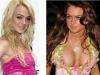 Famosas operadas de senos Antes y después Lindsay Lohan