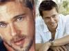 Famosos con barba y sin barba: Brad Pitt