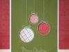 Felicitaciones de Navidad caseras: Bolas de Navidad