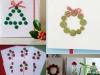 Felicitaciones de Navidad caseras: Diseños con botones