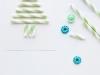 Felicitaciones de Navidad caseras: Con pajitas