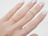 Glass nail art: blancas