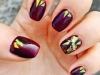 Glass nail art: borgoña