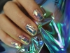 Glass nail art: brillantes