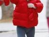 Harper Seven estilo: abrigo plumas