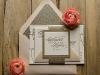 Invitaciones de boda caseras con brillantina