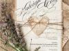 Invitaciones de boda caseras con corazones
