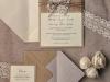 Invitaciones de boda caseras con encaje