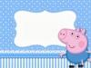 Invitaciones de cumpleaños de Peppa Pig para imprimir: azul con lunares
