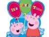 Invitaciones de cumpleaños de Peppa Pig para imprimir: con globos