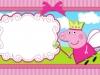 Invitaciones de cumpleaños de Peppa Pig para imprimir: con un hada