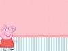 Invitaciones de cumpleaños de Peppa Pig para imprimir: rosa con lunares