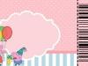 Invitaciones de cumpleaños de Peppa Pig para imprimir: rosa para recortar