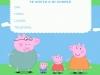 Invitaciones de cumpleaños de Peppa Pig para imprimir: