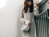 Jerseys oversize: look con falda plisada