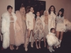 Kim Kardashian rubia platino desfile Kanye West: familia