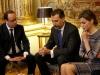 Las imágenes más familiares de Felipe VI como Rey: con el Presidente Hollande