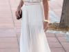 Looks de encaje: top con falda plisada