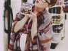Looks Street Style para embarazadas outfit con poncho