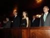 Los Reyes en Oviedo en el concierto de los Premios Princesa de Asturias 2016: en el palco durante el himno