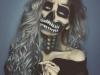 Maquillaje de calavera para Halloween: blanco y negro espectacular