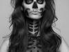Maquillaje de calavera para Halloween: blanco y negro