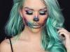 Maquillaje de calavera para Halloween: colores brillantes