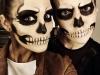 Maquillaje de calavera para Halloween: pareja