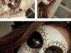 Maquillaje de Catrina para Halloween: blanco y negro
