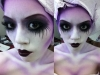 Maquillaje Halloween Mujer: acabado morado
