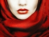 Maquillaje Halloween Mujer: con labios rojos