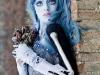 Maquillaje novia cadáver para Halloween: azul