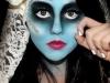 Maquillaje novia cadáver para Halloween: brillo en los ojos