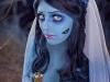 Maquillaje novia cadáver para Halloween: cicatriz en el carrillo