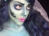 Maquillaje novia cadáver para Halloween: cicatriz