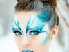 Maquillajes de Carnaval de Fantasía: hada en azul y blanco
