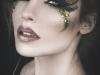 Maquillajes de Carnaval de Fantasía: hada en dorado y negro