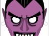 Máscaras de Halloween caseras: Drácula