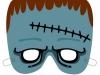 Máscaras de Halloween caseras: Frankenstein