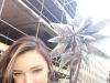 Miranda Kerr presentación estrella Swarovski en Nueva York: posando con la estrella
