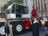 Miranda Kerr presentación estrella Swarovski en Nueva York: posando grúa