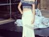Miranda Kerr presentación estrella Swarovski en Nueva York: posando con top azul