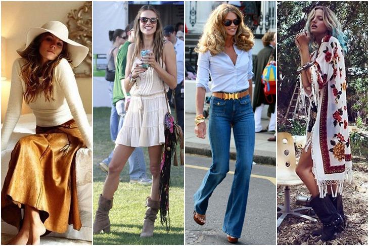 Moda a os 70 estilo hippie chic para mujeres fotos mujeralia - Hippies anos 70 ...
